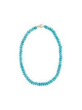 Irene Neuwirth 18kt yellow gold bead necklace - Blue