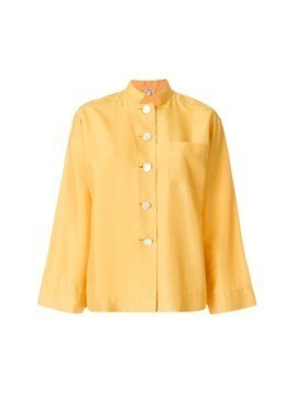 Yves Saint Laurent Vintage stand up collar shirt - Yellow&Orange