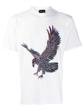 Intoxicated 3D Eagle T-shirt - White