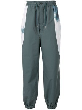 Fengchen Wang panelled track pants - Green