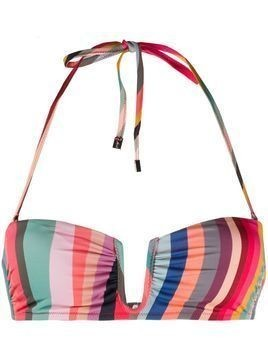Paul Smith swirl-print bikini top - Green