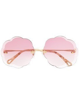 Chloé Eyewear scalloped sunglasses - Pink