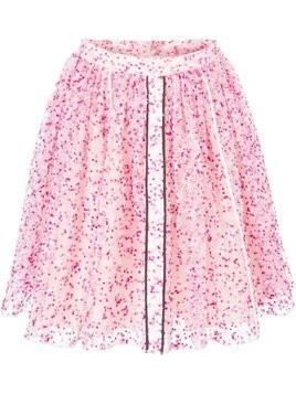 Fendi sheer floral skirt - Pink & Purple