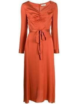 Jovonna Modernista ruched-neck dress - ORANGE
