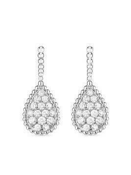 Boucheron 18kt white gold diamond Serpent Bohème earrings - Silver