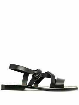 Silvano Sassetti side-buckle leather sandals - Black