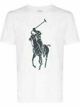Polo Ralph Lauren large logo print T-shirt - White
