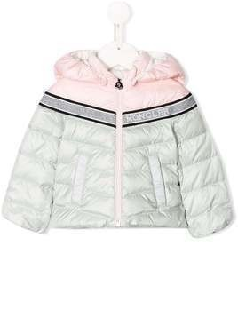 Moncler Kids bi-colour quilted down coat - Blue