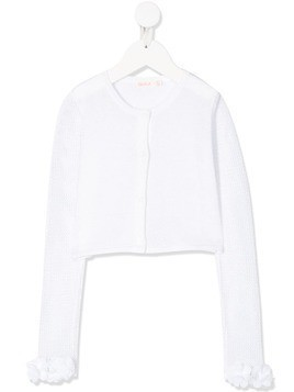 Billieblush cropped fine-knit cardigan - White