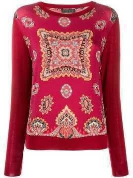 Etro bandana pattern knitted top - Red