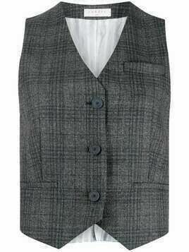 Sandro Paris Anthey plaid waistcoat - Grey