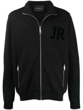 John Richmond zip-up logo track-jacket - Black