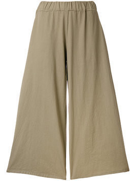 Labo Art wide leg cropped pants - Neutrals
