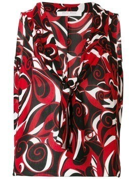Miu Miu Pre-Owned abstract print sleeveless blouse - Red