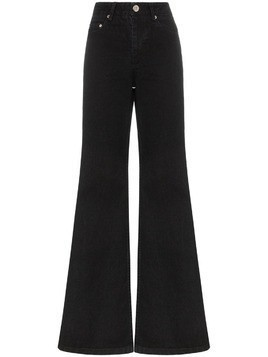 Matthew Adams Dolan high rise wide bootleg jeans - Black