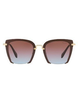 Miu Miu Eyewear square frame sunglasses - Red