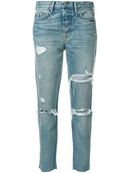 Grlfrnd ripped straight jeans - Blue