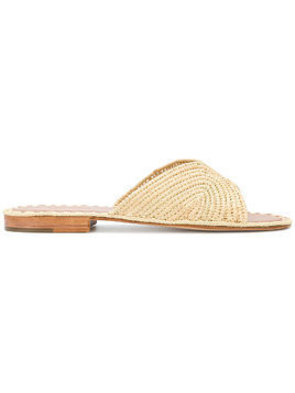 Carrie Forbes woven slip-on sandals - Brown