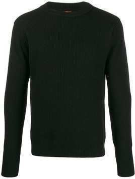 Barena crew neck knitted jumper - Black