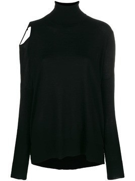P.A.R.O.S.H. cut-out shoulder jumper - Black