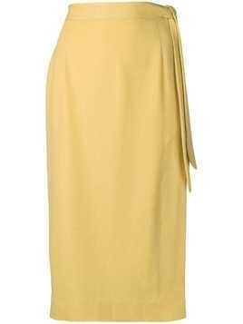 Alexa Chung midi skirt with side knot - Yellow
