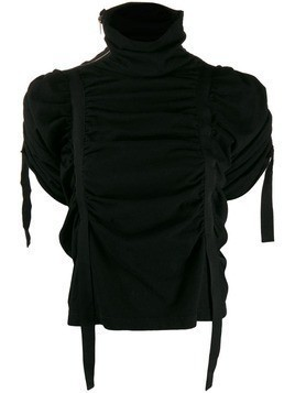 Aganovich ruched tape top - Black
