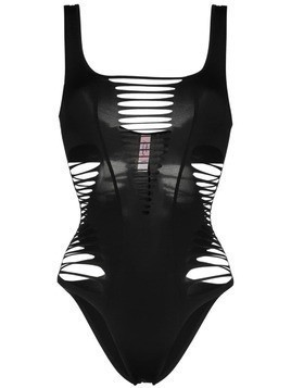 Agent Provocateur Dakotta slashed swimsuit - Black