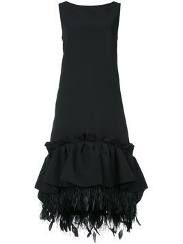 Huishan Zhang gathered peplum shift dress - Black