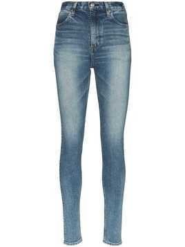 Hyke faded slim-fit jeans - Blue