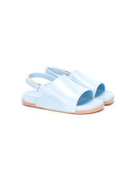 Mini Melissa open-toe varnished sandals - Blue
