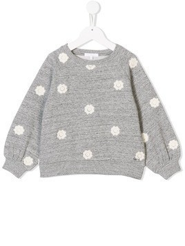 Chloé floral embroidered sweatshirt - Grey