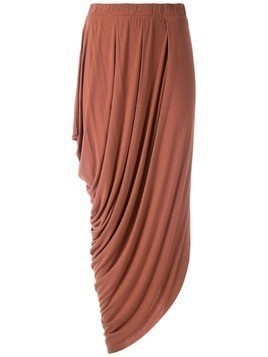 Uma Raquel Davidowicz Maldivas draped midi skirt - Brown