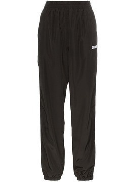 Charm's logo stripe track pants - Black