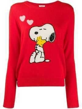 Chinti & Parker Snoopy print jumper - Red