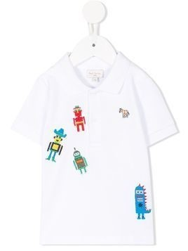 Paul Smith Junior embroidered polo shirt - White
