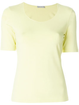 Le Tricot Perugia basic T-shirt - Yellow