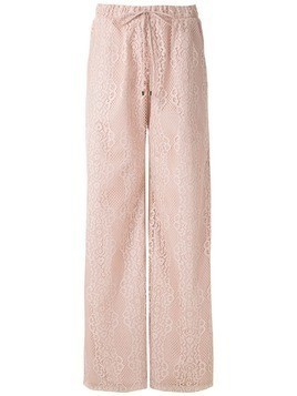 Olympiah Tournesol lace wide leg trousers - PINK