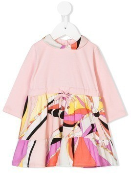 Emilio Pucci Junior long-sleeve printed dress - Pink & Purple