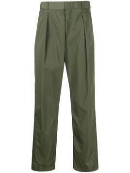 Valentino high-waisted straight-leg trousers - Green