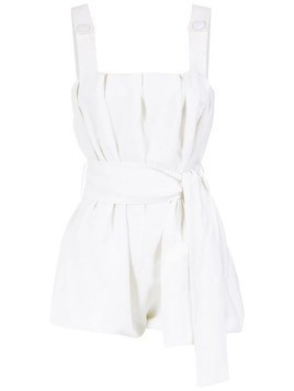 Adriana Degreas belted romper - White