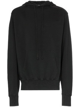 Liam Hodges Lucky Fool print cotton hoodie - Black