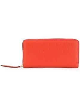 Maison Margiela textured zip around wallet - Orange