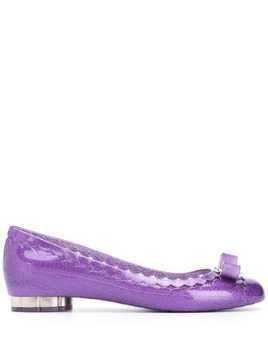 Salvatore Ferragamo Vara Bow ballerina shoes - PURPLE