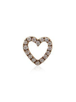 Loquet 18k rose gold and diamond heart charm - Pink