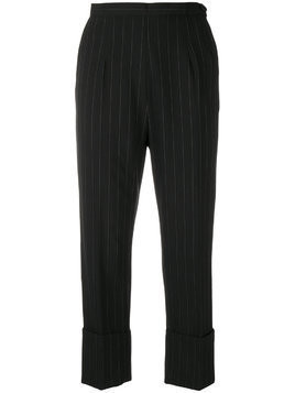 I'M Isola Marras pinstripe cropped trousers - Black