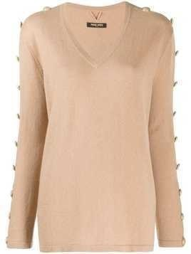 Max & Moi buttoned sleeves jumper - NEUTRALS