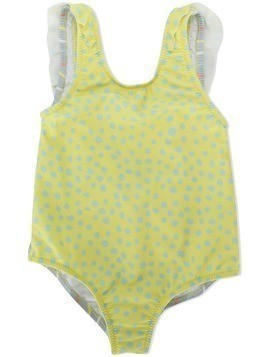 Knot leopard print swimsuit - Yellow