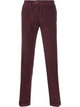 Al Duca D'Aosta 1902 straight leg corduroy trousers - Red