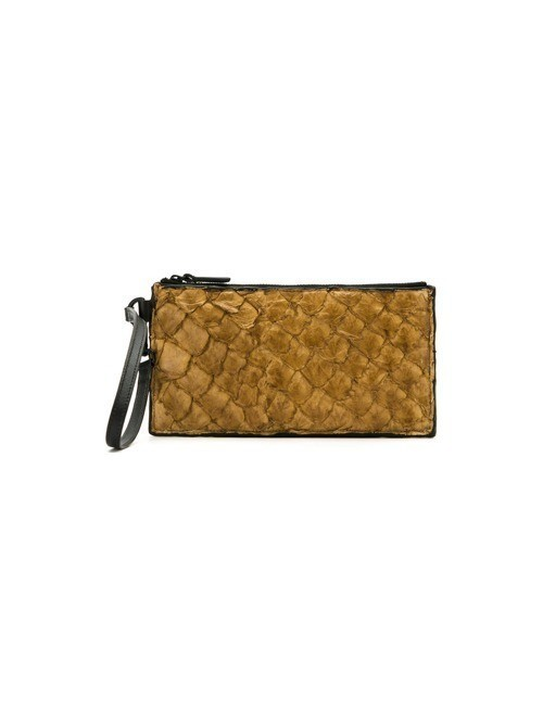 Osklen leather clutch - Brown