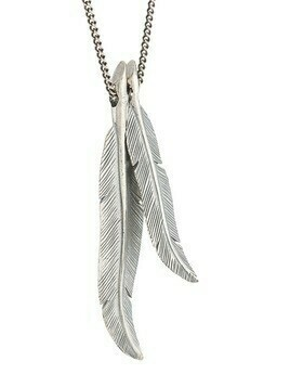 M. Cohen dual feather-pendant necklace - Silver